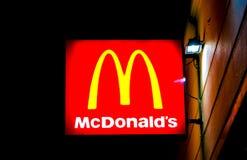 McDonalds Zeichen Lizenzfreies Stockbild