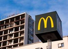 McDonalds znak Zdjęcia Stock