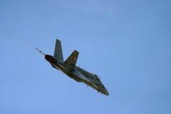 McDonnell Douglas F/A-18 Hornet Φ 18 αεριωθούμενος μαχητής Στοκ εικόνα με δικαίωμα ελεύθερης χρήσης