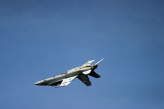 McDonnell Douglas F/A-18 Hornet F 18 jet fighter. Air show royal air tattoo blue sky fast loud army air force navy RAF Fairford Stock Photo