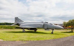 McDonnell Douglas Phantom. FGR2 XV406 is pictured at Solway Aviation Museum in Cumbria, England. The Phantom was a supersonic interceptor fighter bomber royalty free stock photography