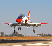 McDonnell Douglas T-45 Goshawk. On approach at Elcentro NAF royalty free stock image