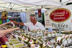 2019 McDonough, Georgia Geranium Festival - Verkopende Groenten in het zuur stock fotografie