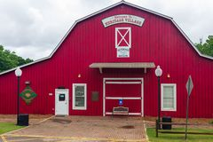 The Veteran`s Museum in Heritage Village at Heritage Park is in a red barn. royalty free stock photo