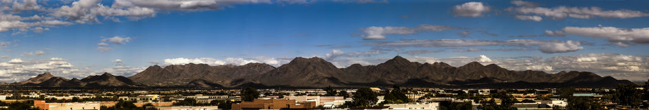 McDowell Mountains of Arizona Panorama Stock Photo