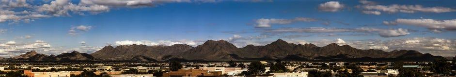 McDowell Mountains of Arizona Panorama. McDowell Mountains borders Scottsdale and Fountain Hills in Arizona stock photo