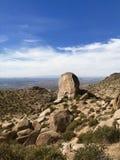 McDowell Nature Preserve, Scottsdale, Arizona. Mountains, desert, sky, cactus royalty free stock photography
