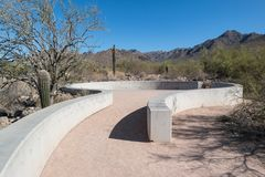 McDowell Sonoran Preserve. Amphitheater at the McDowell Sonoran Preserve in Arizona Royalty Free Stock Images
