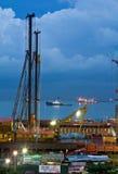 MCE新加坡的海里的隧道建筑 免版税库存图片