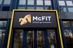 McFIT sprawności fizycznej centrum signage Zdjęcia Royalty Free