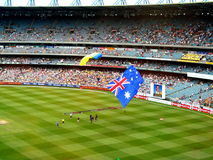 MCG & Australian Flag Stock Photo