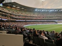 MCG Crowd Seating Area royalty free stock photography