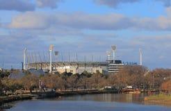 MCG Yarra river cityscape Melbourne Australia Stock Photo