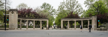 McGill University entrance. McGill University is an English-language public research university in Montreal, Canada. It was officially founded by royal charter Stock Photos