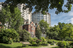 McGill University  scene. McGill University is an English-language public research university in Montreal, Canada. It was officially founded by royal charter Stock Images