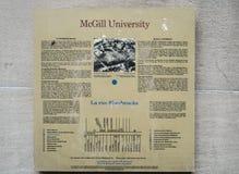 McGill University (Sign) Royalty Free Stock Photography