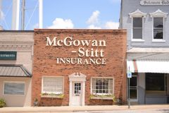 McGowan-Stitt Asekuracyjna agencja, Covington, TN Zdjęcie Stock
