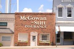 McGowan-Stittversicherungs-Agentur, Covington, TN Stockfoto