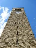 McGraw Basztowy lub Zegarowy wierza fasada przy uniwersytetem cornell zdjęcia royalty free