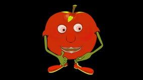Mcintosh Apple introduceert zich Transparant/Alpha- stock videobeelden