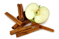 Mcintosh apples and cinnamon Royalty Free Stock Photography