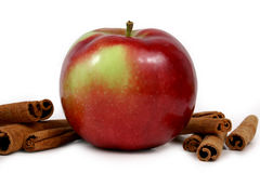Mcintosh apples and cinnamon stock image