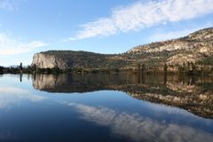 McIntyre Bluffs and Vaseux Lake, Okanagan, British Royalty Free Stock Photos