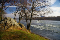 Mckee's Rocks. On the Susquehanna River is best seen from a rest stop and picnic area located on Route 11/15, Snyder County, Pennsylvania royalty free stock image