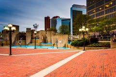 McKeldin budynki w w centrum Baltimore i kwadrat, Maryland obrazy royalty free