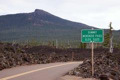 McKenzie przepustki Oregon wysokości kaskady pasmo Obraz Stock
