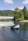 McKenzie River driftboat Royalty Free Stock Photo