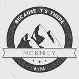 McKinley in Alaska, USA outdoor adventure logo. Stock Photo