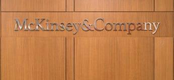 Mckinsey und Companylogo an der Rezeptionsaufnahme von Istanbul-Büro Lizenzfreies Stockfoto