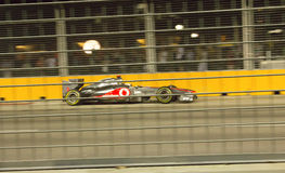 Mclaren驱动器刘易斯・哈密尔顿第5新加坡F1 免版税库存图片