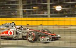 McLaren驱动器Jenson Buttom第2个安排, 2011年9月 免版税库存照片
