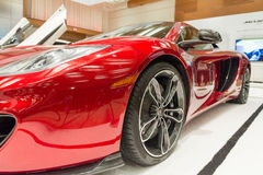 McLaren 12c Coupe Exotic Car in the CIAS. McLaren 12c Coupe Exotic Car in  the Canadian International AutoShow, CIAS for short, is Canada's largest auto show and Royalty Free Stock Photography