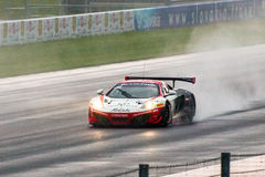 McLaren 12C GT3. Race car photographed during Blancpain GT Series at Slovakia Ring, 23 August 2014 Royalty Free Stock Photos