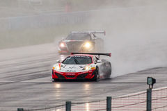 McLaren 12C GT3. Race cars photographed during Blancpain GT Series at Slovakia Ring, 23 August 2014 Royalty Free Stock Images