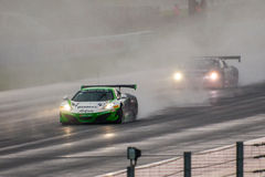 McLaren 12C GT3. Race cars photographed during Blancpain GT Series at Slovakia Ring, 23 August 2014 Royalty Free Stock Photo