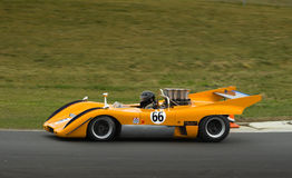 McLaren Can-Am racing car at speed Stock Images