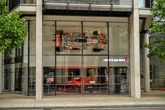 McLaren dealership Knightsbridge Royalty Free Stock Photography