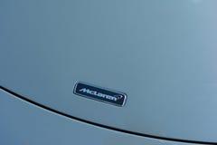 McLaren emblemat na pokazie Fotografia Royalty Free