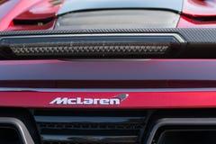 McLaren emblemat na pokazie Zdjęcie Royalty Free