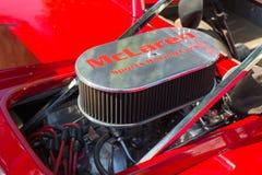 McLaren emblemata silnik na pokazie Zdjęcie Royalty Free