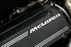 Close up of a McLaren F1 Sports Car Engine royalty free stock images