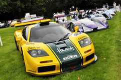 A McLaren F1 GTR racer at Chelsea AutoLegends 2011 Royalty Free Stock Photo