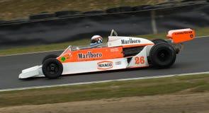McLaren F1 laufendes Auto mit Drehzahl Stockfotografie