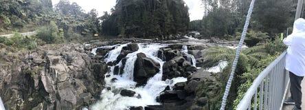 Mclaren Falls New Zealand stock photo