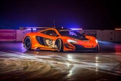 Mclaren 650 GT3, International 2016 de Autosport fotografía de archivo libre de regalías