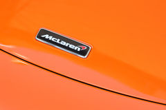 McLaren hood badge Royalty Free Stock Photo